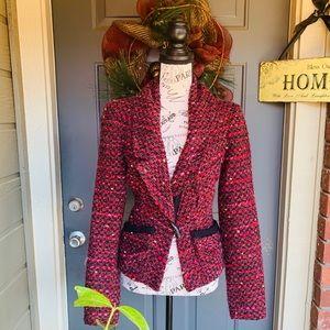 Nanette Lepore Multicolor Tweed Blazer Jacket 6